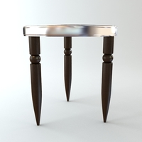 Round Tripod Table 2 3D Model