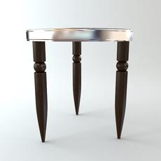Round Tripod Table 2 3D Model