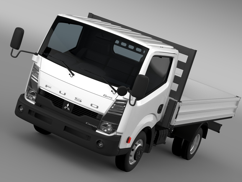 Mitsubishi Fuso Canter Guts Tipper 2015 3D Model
