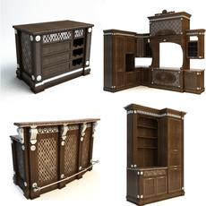 Kitchen Cabinets set 3D Model