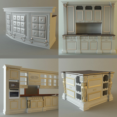 Product collection Kitchen Cabinets 3D Model