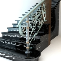 Elegant Stairs 3D Model