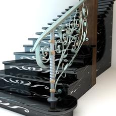 Elegant Stairs 3D Model