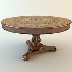 Round Pedestal Table 3D Model