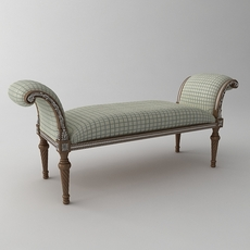 Classical Bench 3D Model
