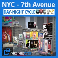 NYC 7th Avenue 3D Model