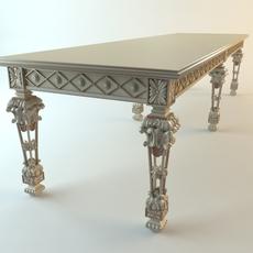 Baroque Console Table 3D Model
