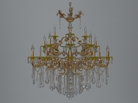 detailed chandelier 3D Model
