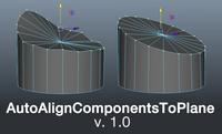 Free AutoAlignComponentsToPlaneTool for Maya 1.0.0 (maya script)