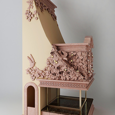 Fireplace with leaves 3D Model