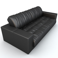 Soft leather sofa 3D Model