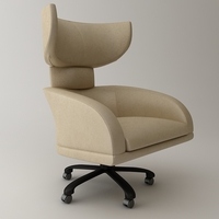 Office Wing Back Armchair 3D Model