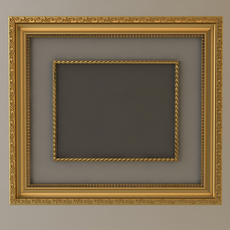 Gold Wall Picture Frame 3D Model