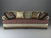 Leather Sofa with pillows 3D Model