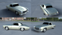 Mercedes 190SL Hard Top 3D Model