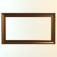 Gold Wall Frame 3D Model