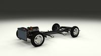 Mercedes Benz 190SL Full Chassis 3D Model