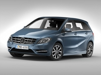 Mercedes Benz B Class (2012) 3D Model