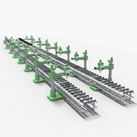 Production line Equipment02 3D Model