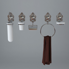 Faucet & Bathroom Accessory Collection 3D Model