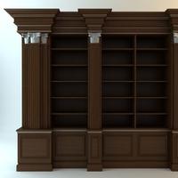 Dark Wood Cabinet 3D Model