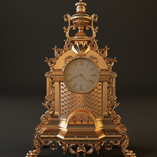 Gold Watch Baroque 3D Model