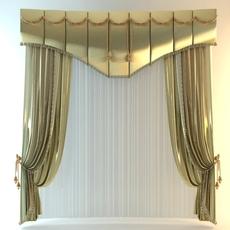 Elegant Tall Curtain 3D Model
