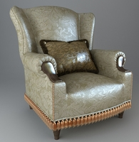 Armchair with pillow 3D Model