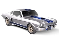 Ford Mustang Shelby Cobra GT350h 1964 3D Model