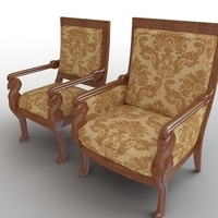 Side Chair & Armchair 3D Model