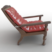 Beach lounger 3D Model
