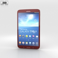 Samsung Galaxy Tab 3 8-inch Red 3D Model
