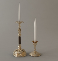 2 Candlesticks 3D Model