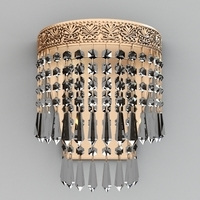 Contemporary Beaded Chandelier 3D Model
