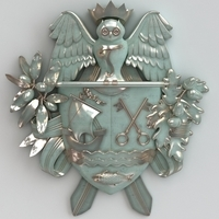 Coat of arms 3D Model