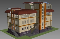 House with Rainscreen cladding 3D Model