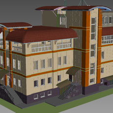 House with Rainscreen cladding 3D Model