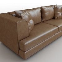 Sofa brown leather DS-41 Antonella Scarpitta 3D Model