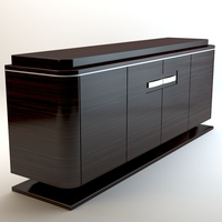 Zebrano cabinet 3D Model