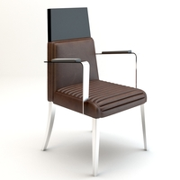 High back armchair 3D Model