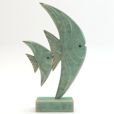 Statue 2 fishes 3D Model