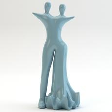 Lovers statue 3D Model