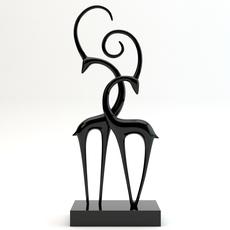 Statue 2 antelopes 3D Model