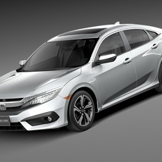 Honda Civic Sedan EX 2016 3D Model