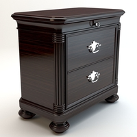 Zebrano nightstand 3D Model