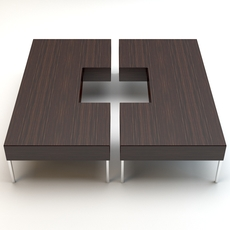 Table porada puzzle 1 3D Model
