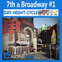 NYC Broadway - 7th Avenue Set 1 3D Model