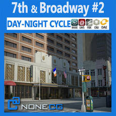 NYC Broadway - 7th Avenue Set 2 3D Model