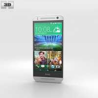 HTC One Mini 2 Glacial Silver 3D Model