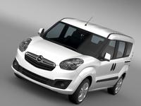 Opel Combo Tour ecoFLEX (D) 2015 3D Model